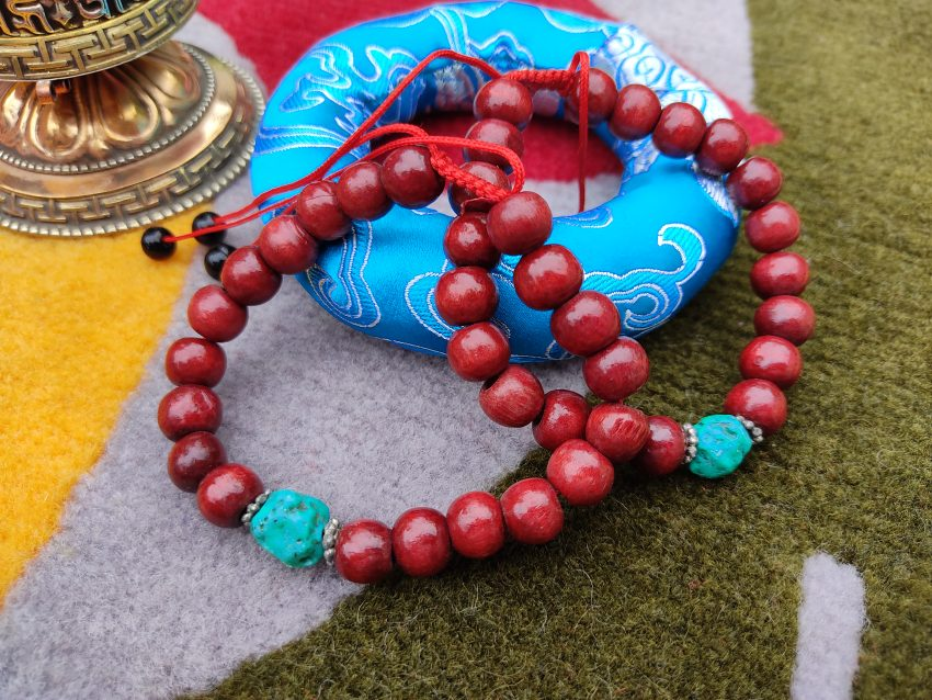 Wooden Bracelet With Torquoise gifts