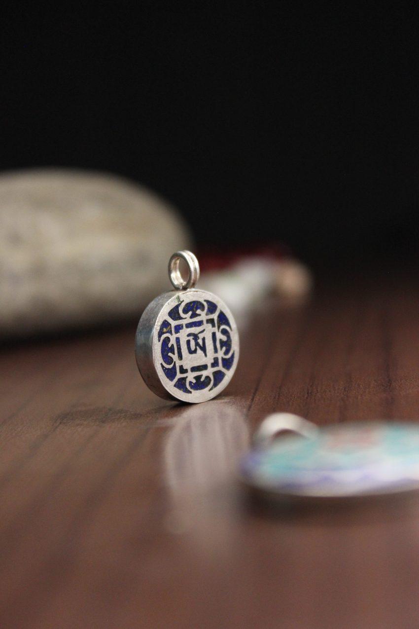 Tibetan Om mantra pendant
