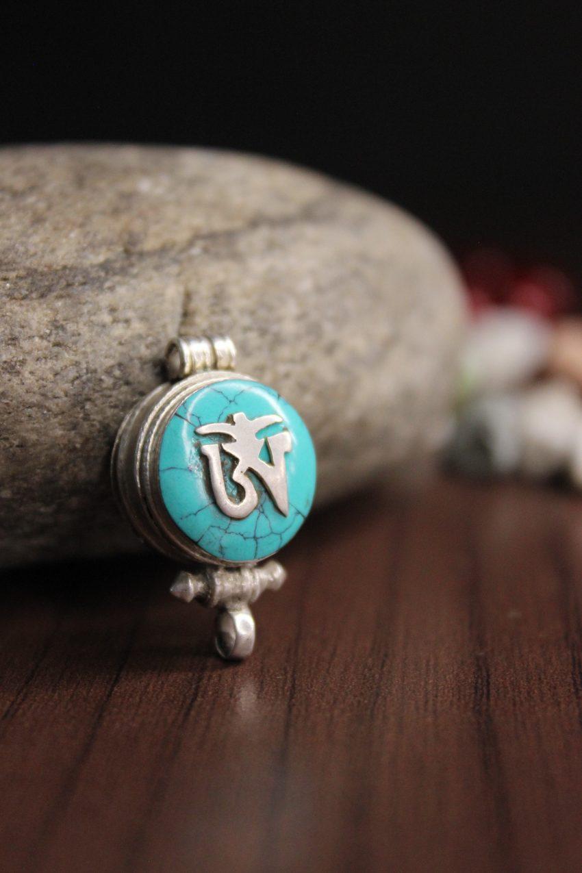 Tibetan Om Ghau Pendant