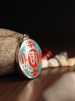 Coral Mandala Pendant