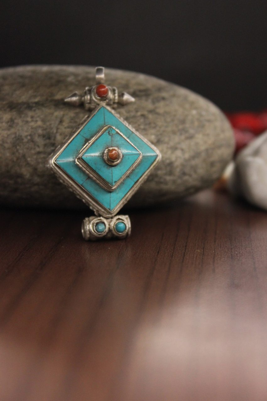 Turquoise Mandala Gharu Prayer Box