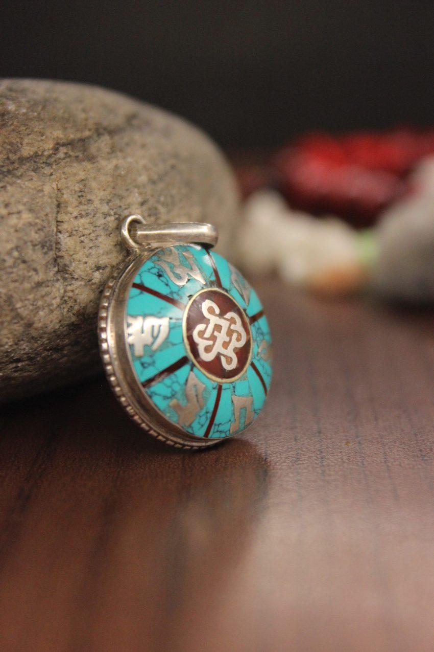 Tibetan Shrivastava Love Knot Pendant