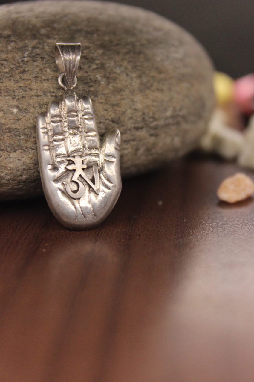 Buddha Hand With Om Pendant