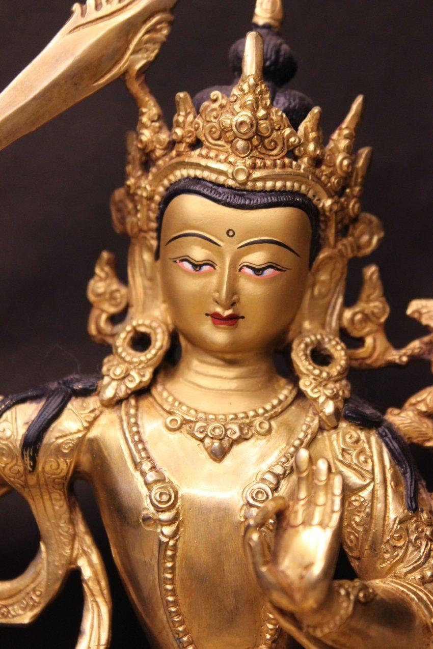 Manjushree Golden Buddha Statue