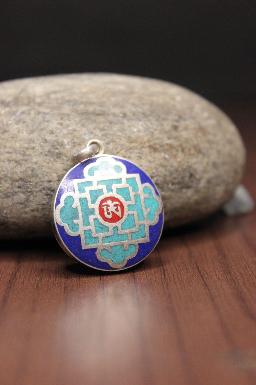 Tibetan Om Mandala Charm