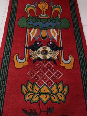 Unique Auspicious Symbol Tibetan Rugs