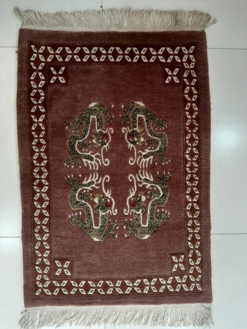 Tibetan dragon rug door mat