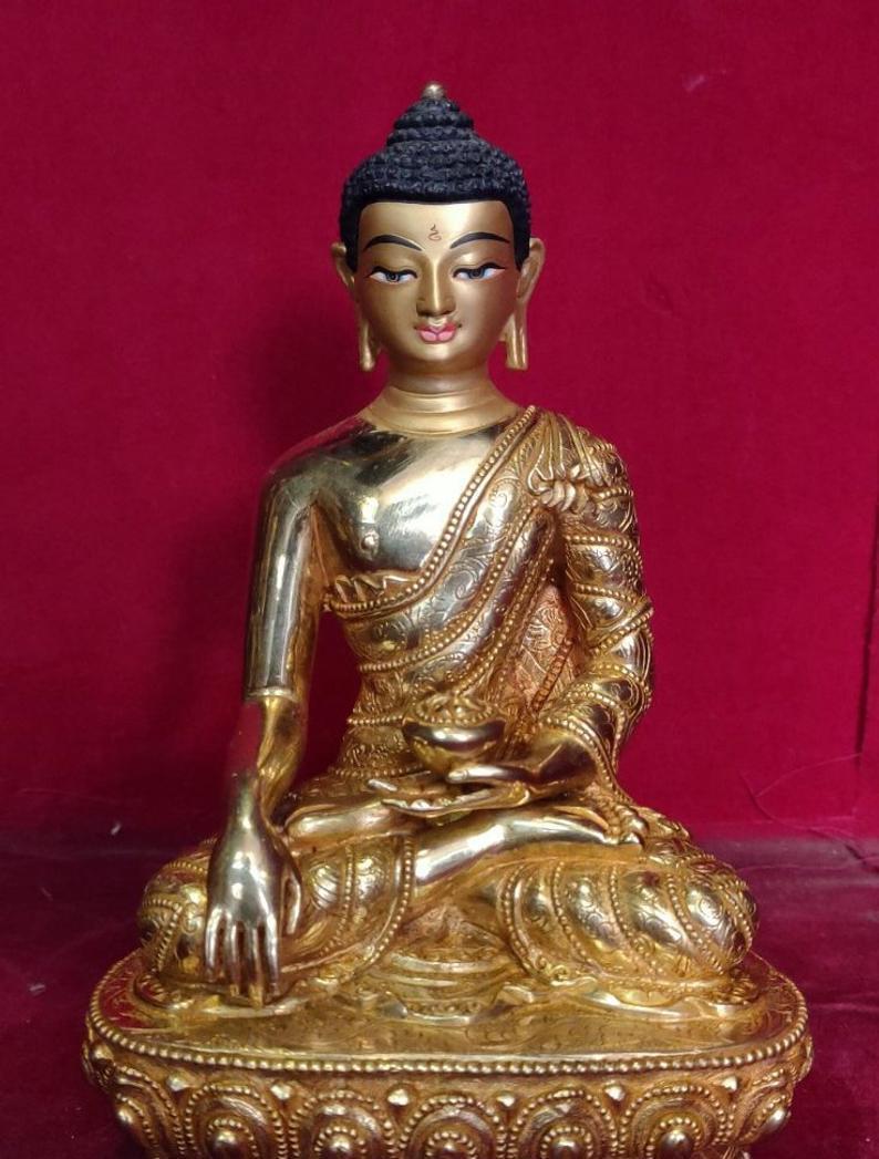 shakyamuni Golden buddha Figurine